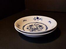 Christina ~ Dresden Classics Blue onion ~ Soup Bowl ~ Seltmann Weiden ~ SET OF 2