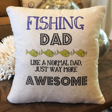 Fishing Father Pillow, man cave, fisherman, grandfather, dad, Father's Day