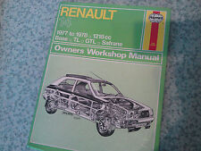 RENAULT 14 All Models 1218cc 1977-78' Haynes Workshop Manual
