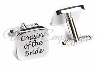 SQUARE SILVER mens wedding cufflinks cuff link Groom best man usher page gift 06