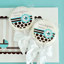96 Blue Baby Theme Lollipops Personalized Lollipop Baby Shower Birthday Favors