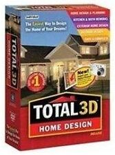 TOTAL 3D HOME DESIGN Deluxe----(Latest) PC Software---Win 10.,8,7,XP---brand new