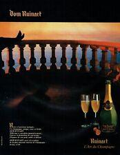 Publicité Advertising 079  1985  champagne  Dom Ruinart