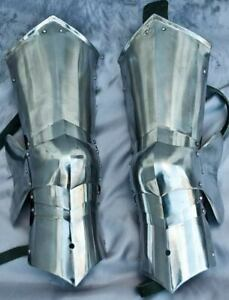 Medieval Combat Leg Armor With Knees And Poleyns