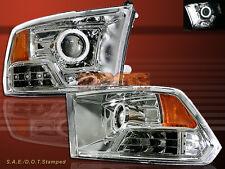 09-12 Ram 1500 2500 3500 CCFL Halo Chrome Clear Projector Headlights