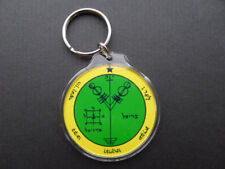 WEALTH SIGIL KEYRING money rich spell wicca witch pagan occult law of attraction