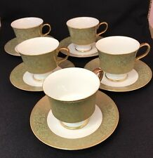 Sango China Versailles 3632 Coffee Cups And Saucers Set of 5