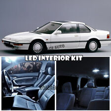 For 85-89 Honda Accord Xenon LED Bulb Full Package Deal Kit Replacement (White)