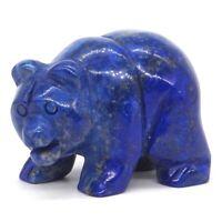 D0409 37x19x24mm Natural Unakite Jasper Hand Carved Bear Figurine