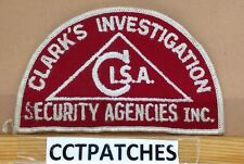 CLARK'S INVESTIGATION SECURITY AGENCIES INC. CISA (POLICE) SHOULDER PATCH