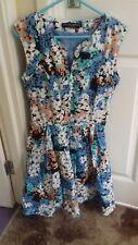 Dorothy Perkins blue floral dress, Size 8