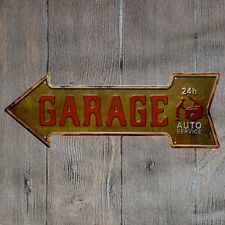 Metal Tin Sign garage 24h auto service Bar Pub Vintage Retro Poster Cafe ART