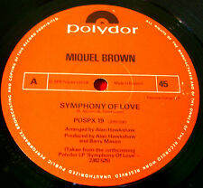 "Miquel Brown Symphony Of Love 12""UK ORIG 1978 Polydor bw When Did It All.. VINYL"