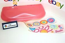 Tupperware Pencil Case Barbie 6 Compartments Stickers Back To School Box - Pink