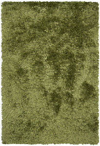 5x8' Chandra Rug  Celecot Hand-woven Contemporary Shag  Wool & Polyester CEL4705