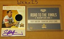 2015 NRL ELITE SCOTT BOLTON ROAD TO THE FINALS JERSEY SIGNATURE REDEMPTION 23/50
