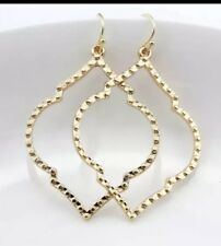 Gold Hammered Dangle Earrings Style jewelry by Isabel J Scott