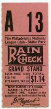 1938-1943 Rare Shibe Park Philadelphia Phillies MLB Baseball Ticket Stub #3