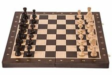 SQUARE - Wooden Chess Set Tournament No. 4 - OAK - Chessboard & Chess Pieces