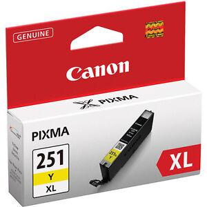 Genuine Canon CLI-251XL yellow ink 251 XL iX6820 MG6420 MG5522 CLI251XL CLI251