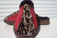 Red Handmade Leather - Mouton Sheepskin Lined Slippers