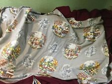 Vintage 1940s Maroon Patterned Day Bed Cover, 3 Shams, NOS? Awesome print!