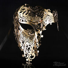 Luxury Phantom Metal Venetian Masquerade Mask for Women M7167 [Gold]