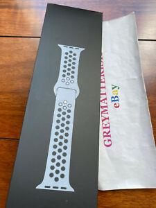 NEW NIKE 42/44/45mm OBSIDIAN MIST/BLACK 100% Genuine Apple Watch sport band