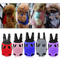 Pet Carrier Backpack Adjustable Puppy Dog Front Legs Out Breathable Travel Bag