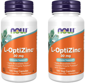 Now Foods L-Optizinc Immune Support 30 mg, 100 Caps (2 PACK) Immune Support