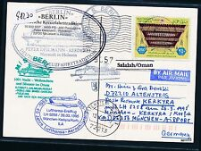 98230) LH FF munich-Corfú Greece 26.3.95, sp MS berlín a partir de kTe Salalah omán
