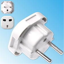 Travel Adapter Plug UK to EU Europe 3 to 2 pin Socket Male Female England White
