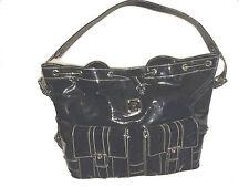 MCM Tasche Sack, Back Shopper schwarz Lack Schultertasche