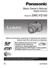 Panasonic DMV-FZ150 Digital Camera Manual Book English Brand New Page Count 43
