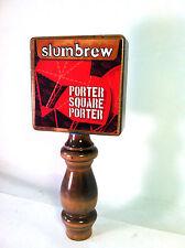 Slumbrew Tap Handle, Porter Square Porter, Beer Keg Knob, Red and Blue, RARE!