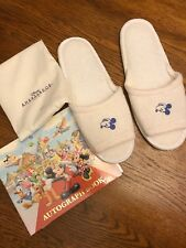 Tokyo Disney Autograph Book And Pair Of New Hotel Slippers