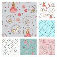 Licorne Princesse Happy Pays Tissu 100% Coton Confection Crèche Matelassage