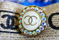 One STAMPED  Chanel Button 1 pieces pearl & crystals💄👍💄