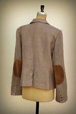 Dorothee Bis Size 14 Suede Patches Herringbone College Professor Designer Jacket