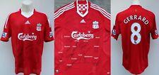 2008-09 Liverpool Home Shirt Squad Signed inc. Gerrard & Torres COA (20135)