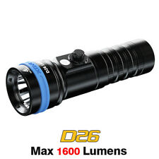 XTAR D26 Cree LED Magnetic 1600 Lumen Rechargeable Scuba Diving Flashlight Torch