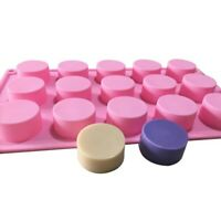 15 Cavity Round Chocolate Candy Mold Silicone Ice Cube Tray Jelly Soap DIY Molds