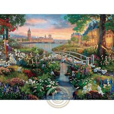 750 Piece Puzzle: Thomas Kinkade - Disney Dreams - 101 Dalmations Puzzle Relax