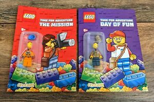 New Lego Centum Activity Book X2 With Mini Figure Great for travel and party bag