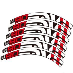 M90 Santa Cruz Wheels Rim Stickers for Mountain Bike Bicycle MTB Race Decals