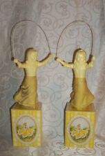 Lot of 2 Vintage Cologne Decanters By Avon Skip-A-Rope