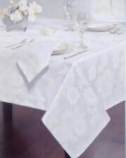 "Homewear 60"" X 104"" Dinner Party Meldley White EasyCare TableCloth & Napkin Set"