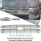 For 2007-2010 Chevy Silverado 2500hd3500hd Billet Grille Combo Chrome Insert