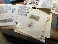 WORLD STAMPS albums + leaves fdc on paper sorting lot Stock clearance lot 2