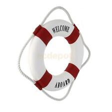 """Red 13.8"""" Decorative Nautical Life buoy Ring Preserver Hanging Home Decor"""
